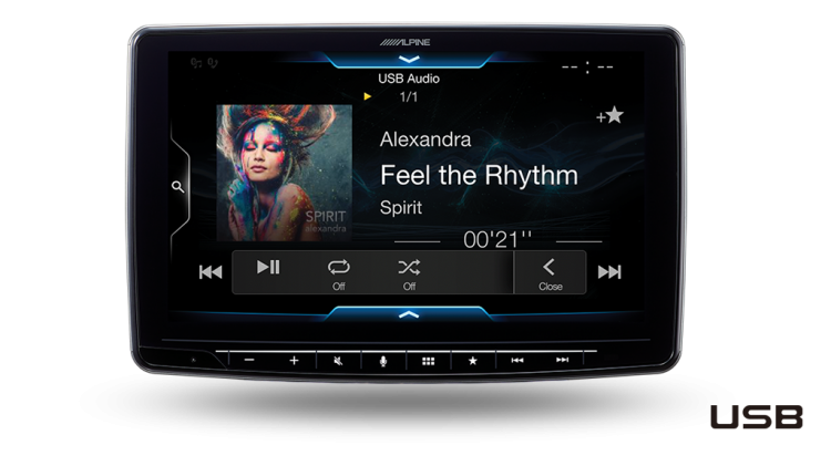 alpine Halo9 ILX-F309E USB Audio