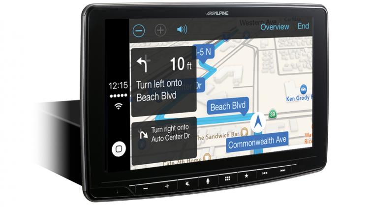 alpine Halo9 ILX-F309E Smartphone Navigation