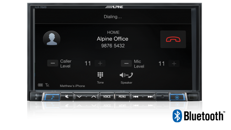 Alpine iLX-702D Bluetooth
