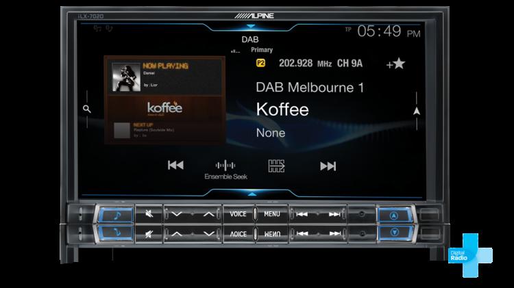 Alpine iLX-702D DAB Digital Radio