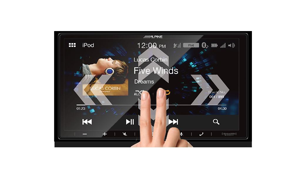 iLX-W650 dual swipe interface