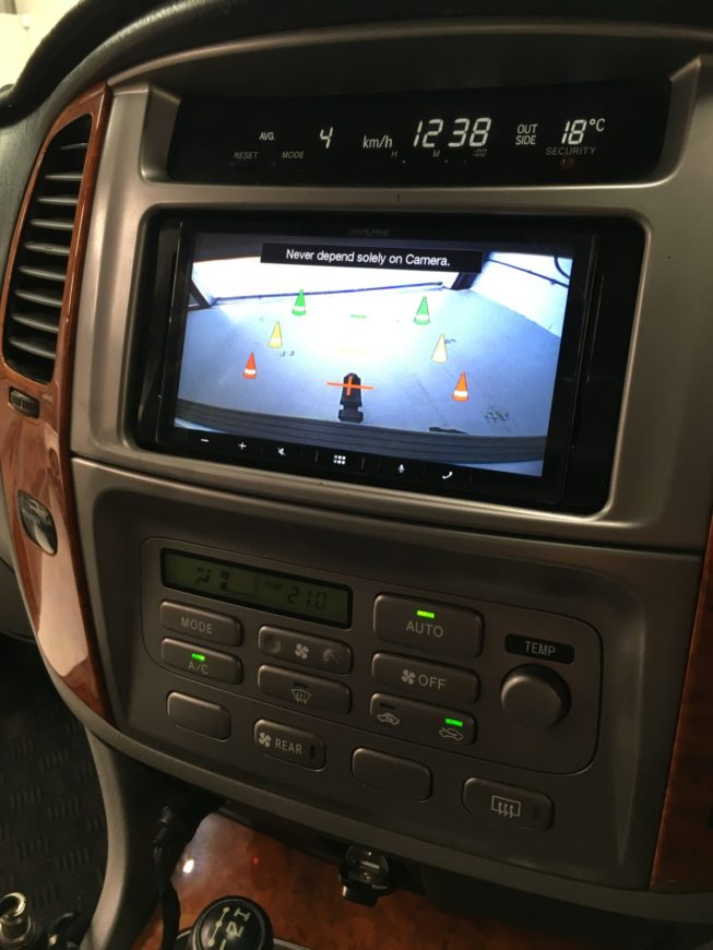 toyota land cruiser with CarPlay android auto upgrade