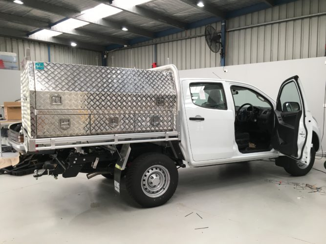 D-Max fitted with extensive toolbox alarm system