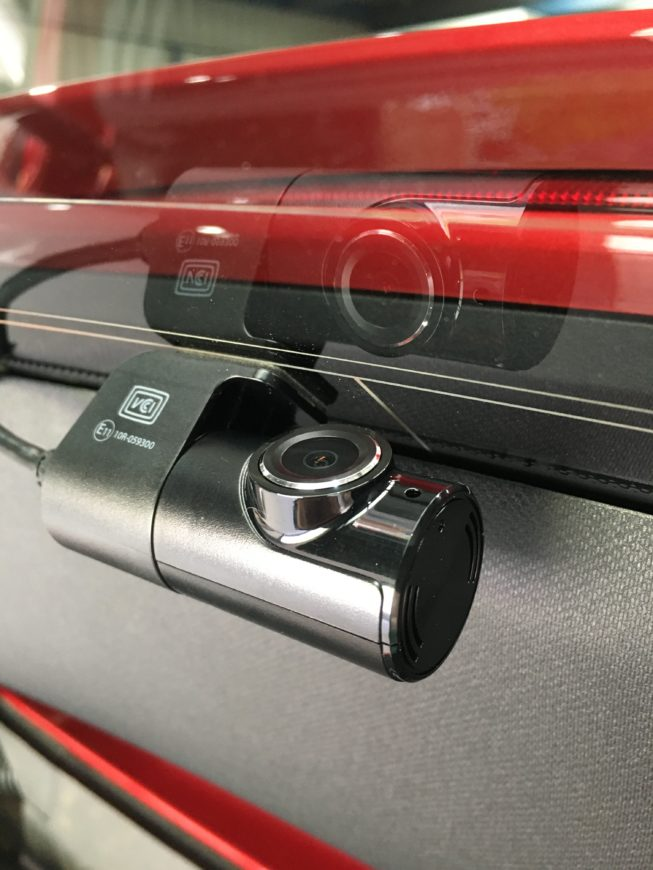 Rear dash-cam installed into Mercedes GLE