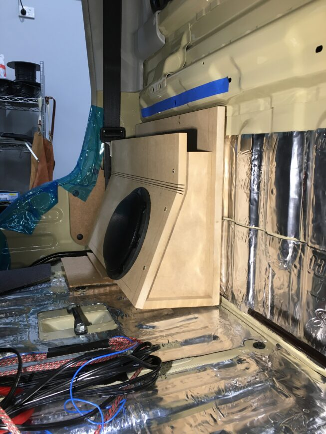 79 series subwoofer enclosure fabrication