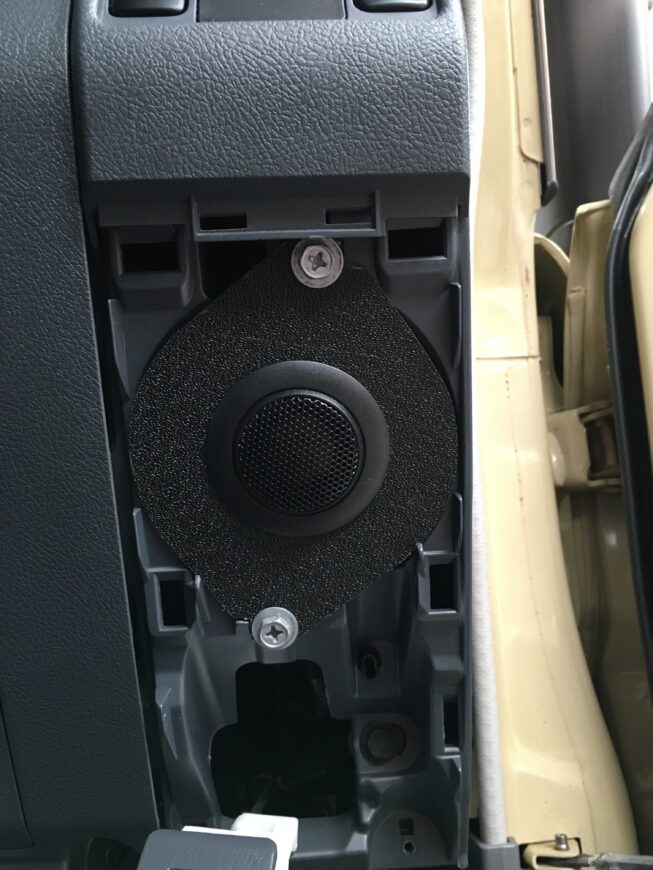 Alpine tweeters installed into factory dash speaker locations