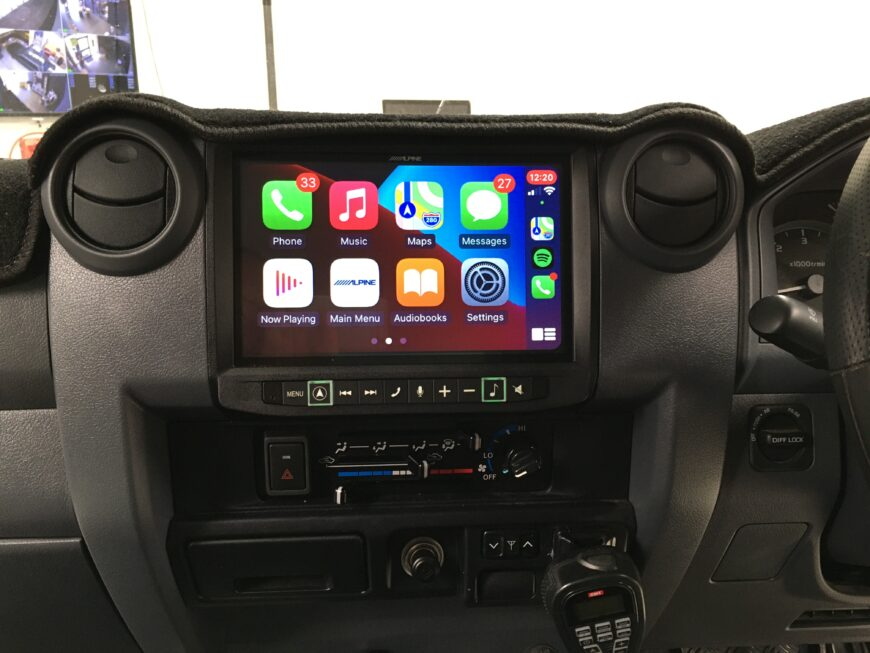 CarPlay installation into 79 Series Cruiser