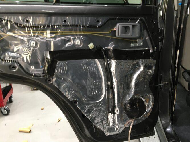 79 series rear door deadening