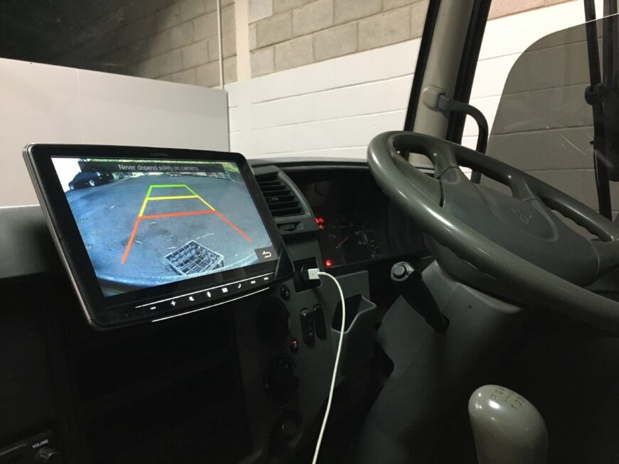 fuso truck reverse camera installation