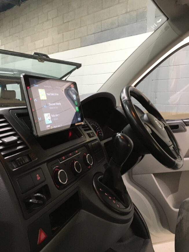 vw transporter CarPlay upgrade dmh-zf9350